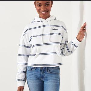 Nwt Womens Hollister Striped Hoodie Sweatshirt
